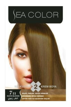 Sea Color 2'li Saç Boyası 7,11 Yoğun Küllü Kumral 0