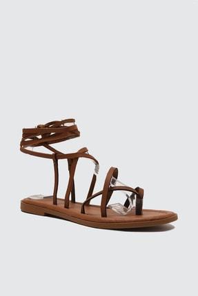 TRENDYOLMİLLA Taba Kadın Sandalet TAKSS21SD0026 2
