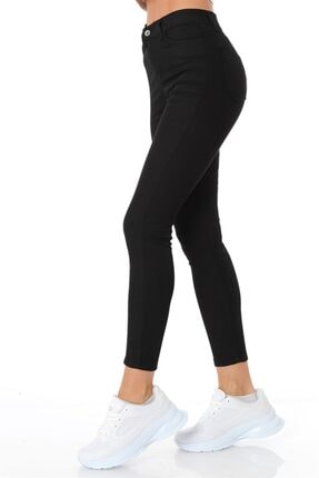 ZİNCiRMODA Yüksel Bel Dar Paça Pantolon - Siyah 3