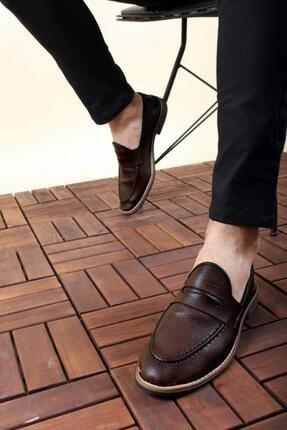 Oksit Erkek Kahverengi Loafer Rugan Ayakkabı 1