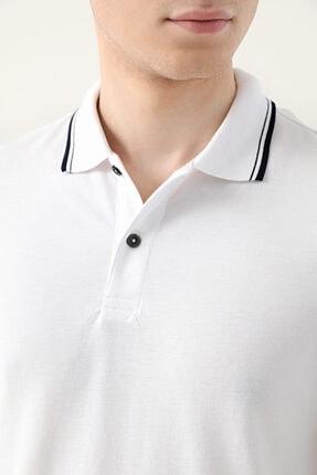 D'S Damat Ds Damat Slim Fit Beyaz Pike Dokulu T-shirt 2