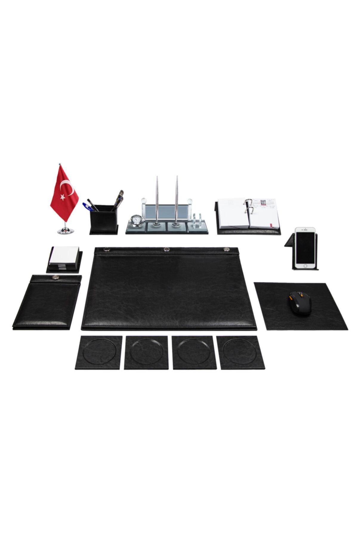 Anadolu Truva Düğmeli Siyah Sümen Takımı