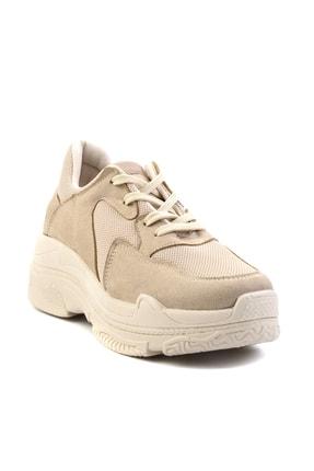 Bambi Bej Süet Kadın Sneaker K01836001065 2