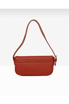 bag&more Kadın Kırmızı Kapaklı Baget Omuz Çantası 2