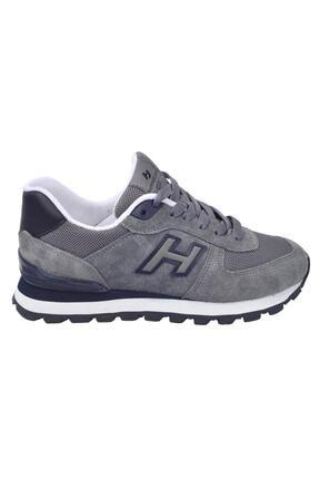 Hammer Jack Kadın Gri Lacivert Peru Deri Sneaker  Ayakkabı 102 19250-g 2