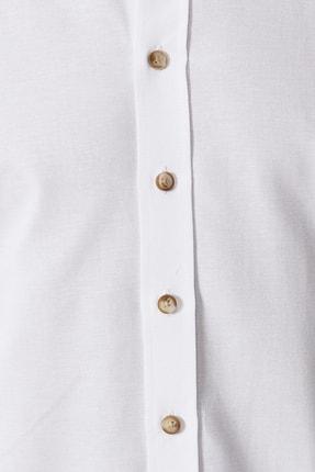 Altınyıldız Classics Erkek Beyaz Düğmeli Yaka Tailored Slim Fit Oxford Gömlek 2