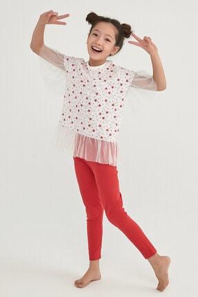 Picture of Kız Çocuk Star Frill Ss 2li Pijama Takımı