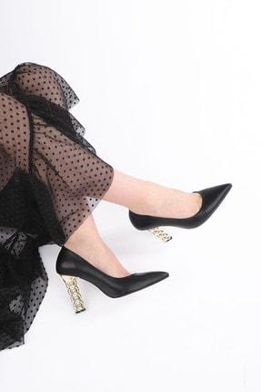 Marjin Kadın Stiletto Topuklu Ayakkabı Dukinsiyah 2
