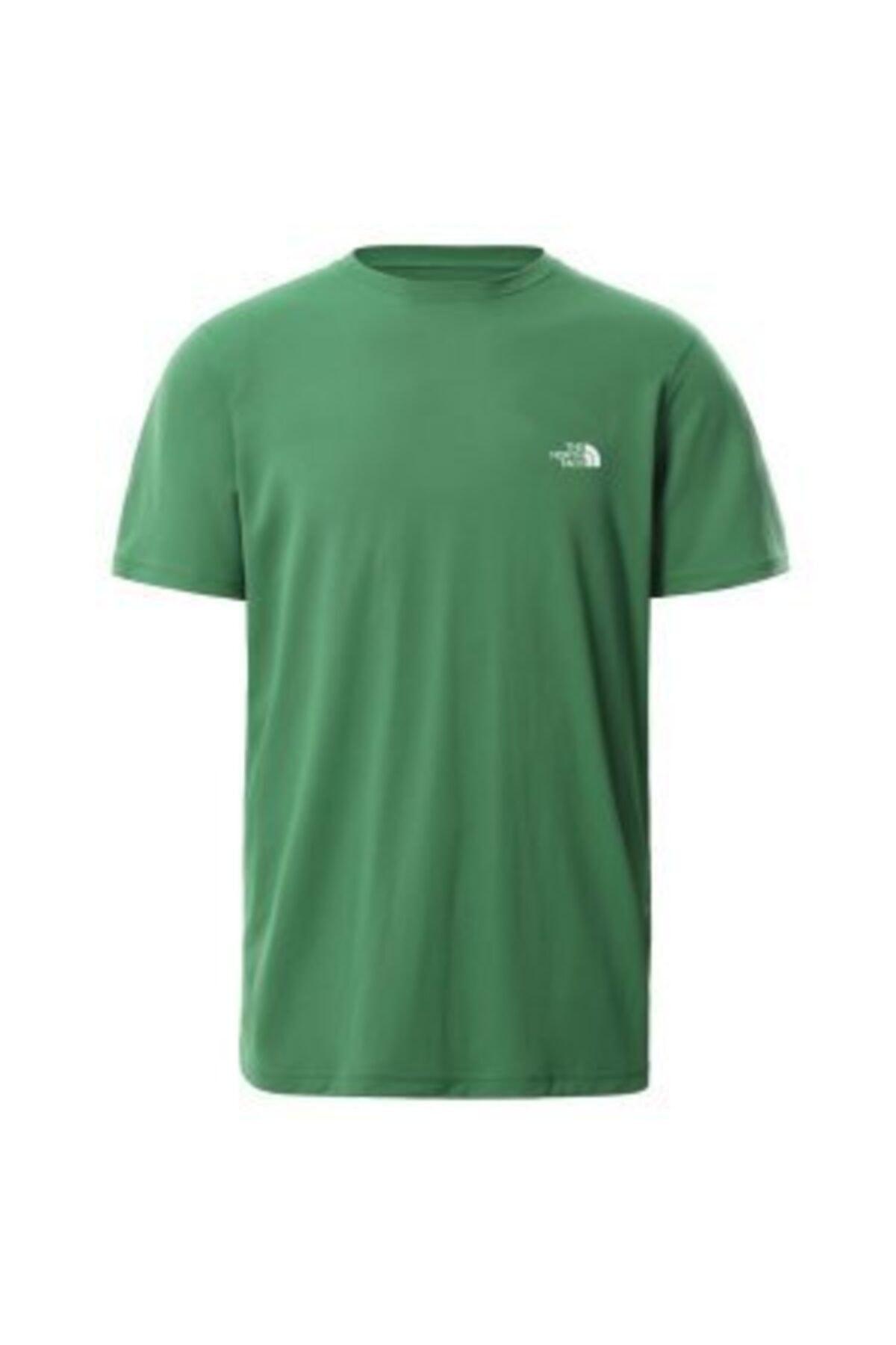 M New Basic Left Chest Logo Tee - Eu Erkek Yeşil Tshirt Nf0a55axeu21