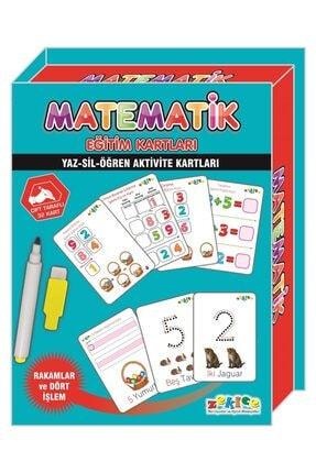 Zekice Eğitici Matematik Kartları (manyetik Sayılar Hediyeli) 1