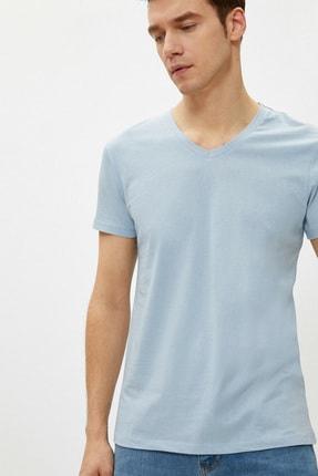 Koton Erkek Açık Mavi T-Shirt 1YAM12138LK 1