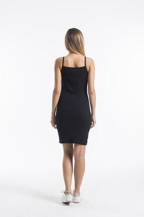 twentyone Kadın Siyah İp Askılı Mini Kaşkorse Elbise 3