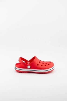 Akınalbella Çocuk Kırmızı Beyaz Şeritli Crocs Terlik 0