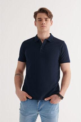 Avva Erkek Lacivert Polo Yaka Düz T-shirt A11b1146 0