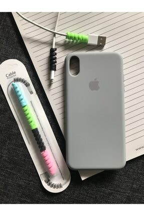 SUPPO Iphone Xs Max Logolu Lansman Kılıf+kablo Koruyucu 0