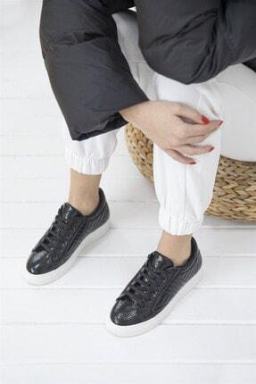 Straswans - Kadın  Siyah Rugan Spor Ayakkabı 2