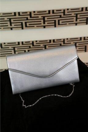 Kadın Gümüş Renk Abiye Çanta 405