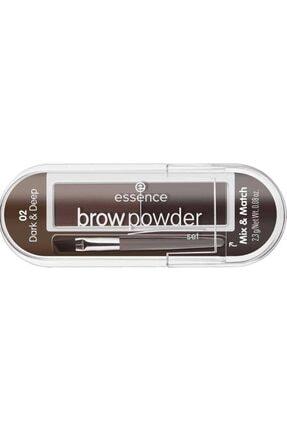 Essence Brow Powder - Kaş Farı No: 02 Dark/ Deep 0