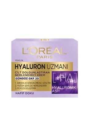 L'Oreal Paris Hyaluron Uzmanı Cilt Dolgunlaştıran Nemlendirici Gündüz Kremi Gkf20 - Hyaluronik Asit 3600523775682 0