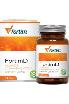 Fortim D Vitamini 1000 Iu (90 Tablet) 0