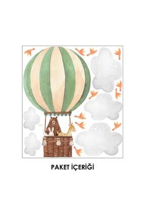 Ender Sevimli Dostlar Ve Uçan Balon Çocuk Odası Duvar Sticker 1