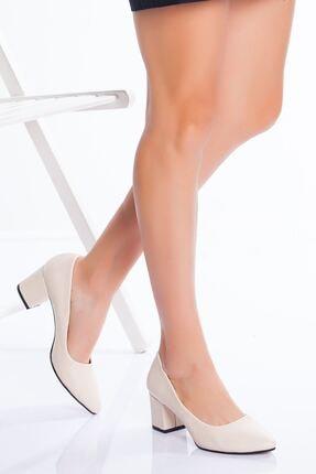 derithy Kadın Ten Klasik Topuklu Ayakkabı 0