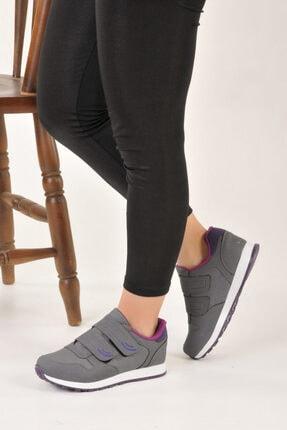 Özay ayakkabı Unisex Gri Renk Çift Bantlı Spor Ayakkabı 2