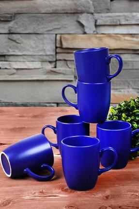 Keramika Mat Kobalt Bulut Kupa 9 Cm 6 Adet 0