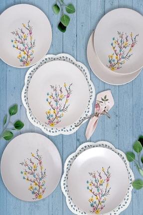 Keramika İlkbahar Tomurcuk  Servis Tabağı 26 Cm 6 Adet 0