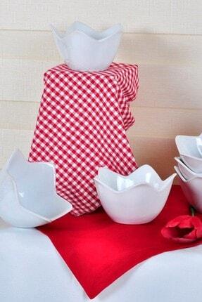 Keramika Beyaz Zambak Çerezlik / Sosluk 12 Cm 6 Adet 0