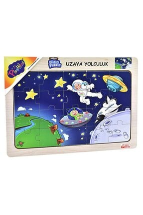 Play Wood Playwood Eğitici Ahşap Puzzle Uzaya Yolculuk Ony-78 0