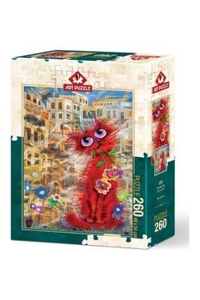 Art Puzzle Kırmızı Kedi 260 Parça Puzzle 0