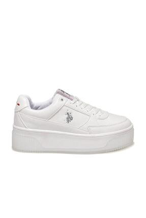 US Polo Assn MADONNA 1FX Beyaz Kadın Fashion Sneaker 100910524 1