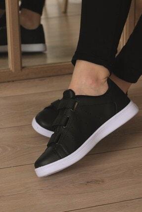 AlbiShoes Unisex Cırtlı Siyah - Beyaz Sneaker - Sbc75 3