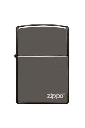 Zippo Çakmak Logo Black Ice Buz Siyahı 150zl 0