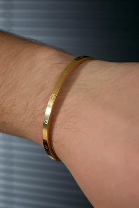 Sateen Men Erkek Gold Çelik Bileklik 1
