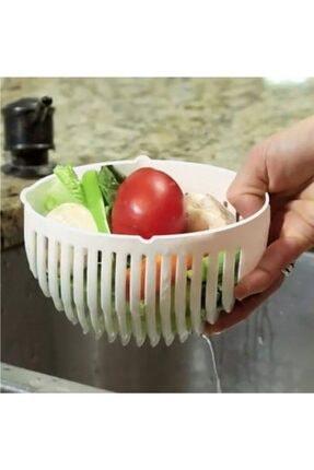 Toptrends Pratik Salata Yapma Kasesi Pratik Salata Dilimleme Aparatı 1