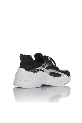 İnci Kadın Siyah Vegan Cilt/dalgıç Slip On Bağcıklı Klasik Spor Ayakkabı -i3007 2