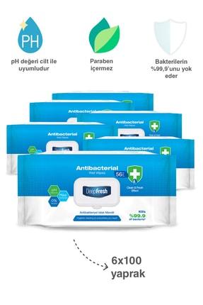 Deep Fresh Antibakteriyel Islak Mendil 6'lı Paket 600 Yaprak 2