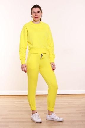 MARIQUITA Kadın Sarı Mari Reglan Kol Sweat 0