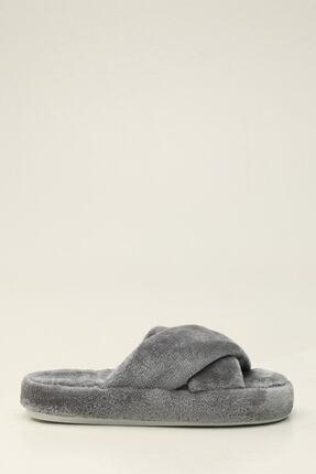 Ayakkabı Modası Kadın Gri Terlik 1