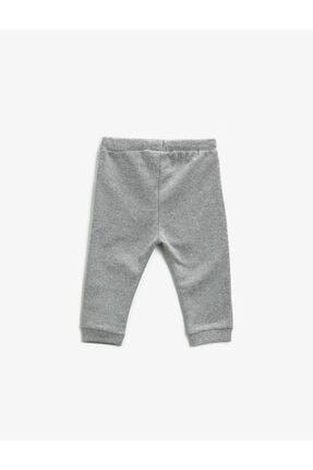 Koton Erkek Bebek Gri Beli Bağlamalı Basic Eşofman Altı 1