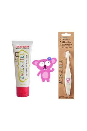 Diş Macunu Diş Fırçası Set (fırça-çilek Aromalı Macun) Jack205