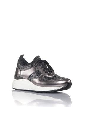 İnci Kadın Bronz Vegan Ayna Tekstil Slip On Bağcıklı Klasik Spor Ayakkabı -i3016 1