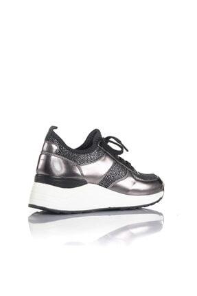 İnci Kadın Bronz Vegan Ayna Tekstil Slip On Bağcıklı Klasik Spor Ayakkabı -i3016 2