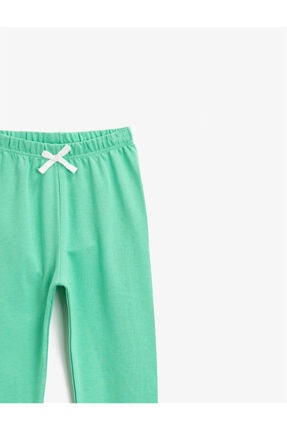 Koton Kız Çocuk Yeşil Pamuklu Beli Lastikli Basic Esofman Alti 2