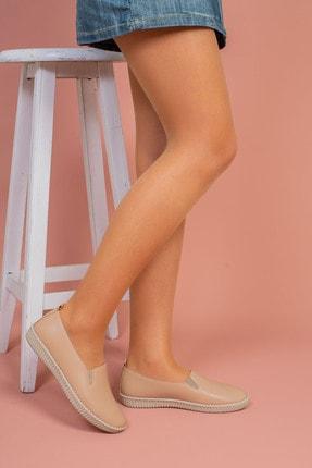 Hoba Kadın Bej Günlük Rahat Ayakkabı 1