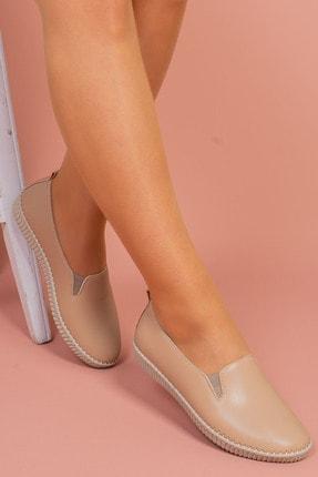 Hoba Kadın Bej Günlük Rahat Ayakkabı 2