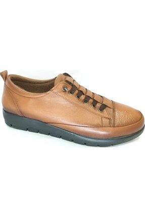 50372 Topuk Dikenine Özel Hakiki Deri Ortapedik Ayakkabı Taba resmi