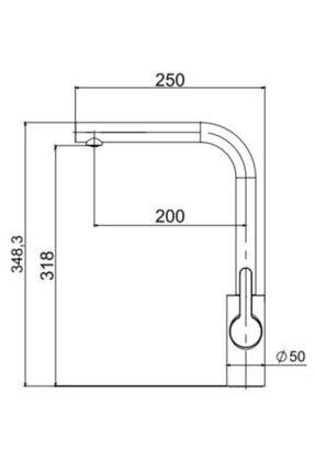 Vıvıano     1 Göz Beyaz 50x56 Cm Granit Evye + Batarya + Otomatik Tuşlu Sifon 4